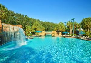 The swimming pool at or close to Walt Disney World Dolphin