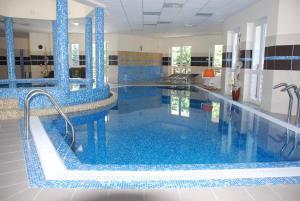 The swimming pool at or near Baranya Hotel Harkany