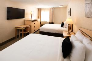 A bed or beds in a room at Red Lion Inn & Suites Denver Airport