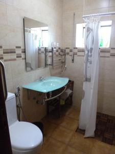 A bathroom at Casa de Santana