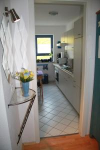 A kitchen or kitchenette at Apartments in Dresden am Elbufer