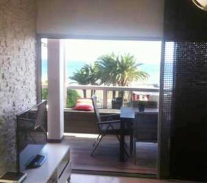 Un balcón o terraza de Apartamento en Playa de las Burras