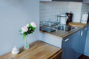 A kitchen or kitchenette at Best Day Apartments