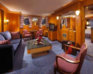 The lounge or bar area at The Queen Mary