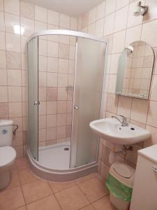 Koupelna v ubytování Chalupa u dedu a babky