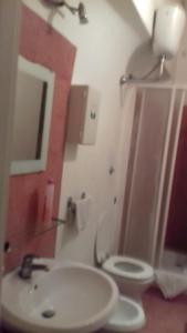 A bathroom at H.H