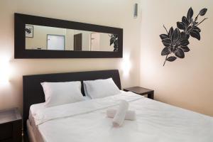 Кровать или кровати в номере MosApts 12 near Moscow City -3 rooms