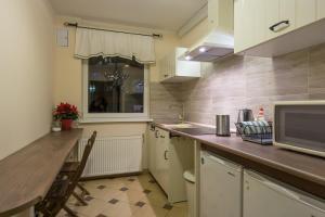 Kuchnia lub aneks kuchenny w obiekcie Pokoje Gościnne CYKADA