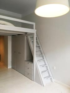 A bunk bed or bunk beds in a room at 1BR(4guests) Apartment right in the center of Brno