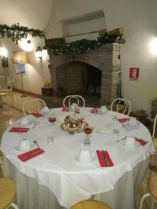 A restaurant or other place to eat at Agriturismo Pantano Borghese