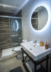 A bathroom at The Lights Suites