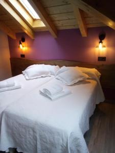 Cama o camas de una habitación en Albergue Miguelin