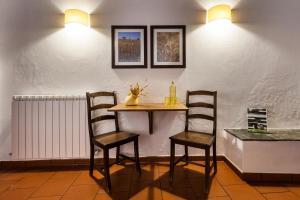 Área de jantar na casa de hóspedes