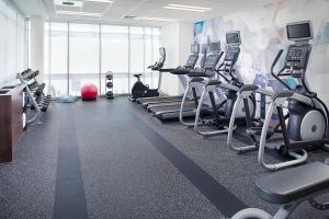The fitness center and/or fitness facilities at SpringHill Suites by Marriott Carle Place Garden City