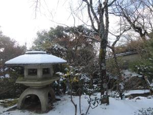 Ryokan Inn Yoshida-sanso during the winter