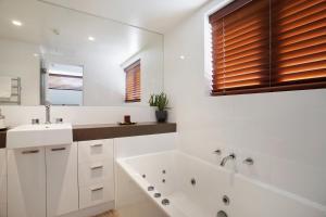 A bathroom at Elevation Apartments