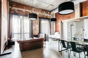 Zona de estar de Barcelona Apartment Republica
