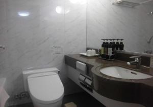A bathroom at Terminal Hotel Matsuyama