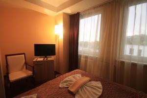 Televízia a/alebo spoločenská miestnosť v ubytovaní Hotel CITY **** Galanta