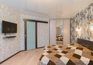 Телевизор и/или развлекательный центр в Apartment on Zvezdinka 5