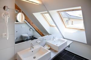 Koupelna v ubytování Davidův mlýn
