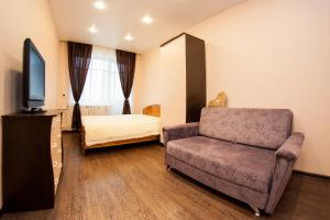 Гостиная зона в Apartment on Lenina 49