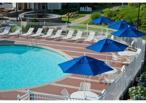 A view of the pool at Hyannis Harbor Hotel or nearby