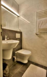 Ein Badezimmer in der Unterkunft Landgasthof Hirsch