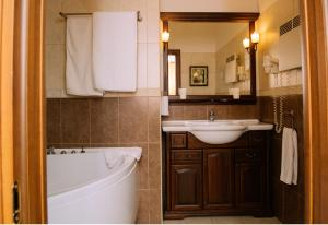 A bathroom at Atlanta Sheremetyevo Hotel