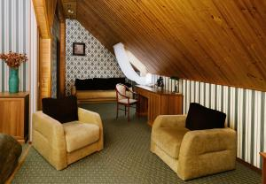 A seating area at Atlanta Sheremetyevo Hotel