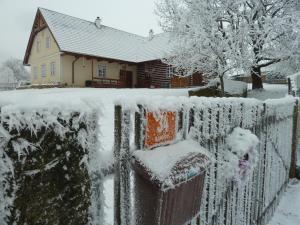 Vesnická usedlost v zime