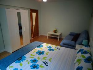 A bed or beds in a room at Apartament cu doua camere Slanic Moldova