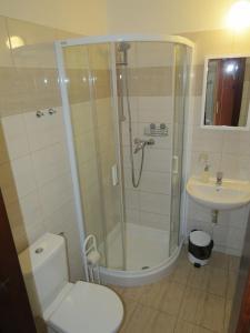 Koupelna v ubytování Hotel Český Dvůr
