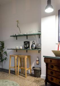 Kuchnia lub aneks kuchenny w obiekcie Loft z Baldachimem