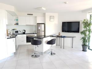 Küche/Küchenzeile in der Unterkunft Excellsior Apartments