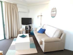 Ein Sitzbereich in der Unterkunft Excellsior Apartments