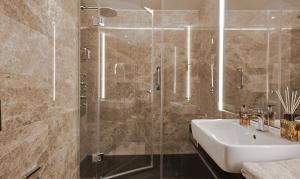 Living Hotel Das Viktualienmarkt tesisinde bir banyo