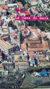 Vista aerea di casa di mara