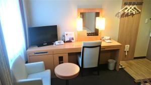 A television and/or entertainment center at West Inn Fuji-Yoshida