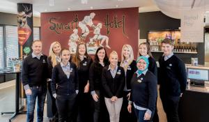 Members of staff at Smarthotel Forus
