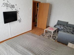 Телевизор и/или развлекательный центр в Апартаменты GrInn 15 на Коммунальной