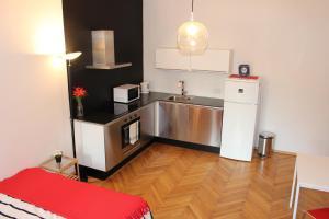 Кухня или мини-кухня в Trendy Old Prague Apartment