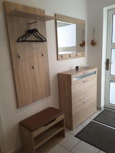 Ein Badezimmer in der Unterkunft Ferienwohnung im Paulusviertel