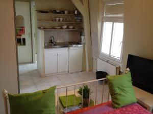 Cuisine ou kitchenette dans l'établissement Studio's Javastraat