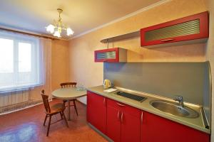 A kitchen or kitchenette at Hotel Moskvich