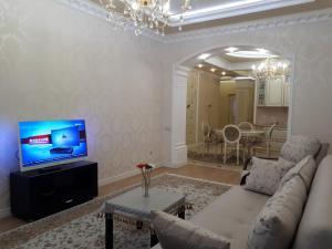 Телевизор и/или развлекательный центр в Apartment on Gagarina street
