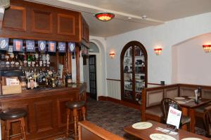 The lounge or bar area at The White Hart Hotel