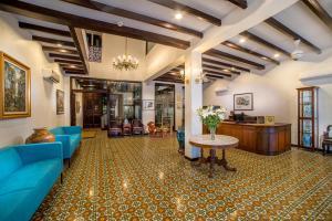 The lobby or reception area at Areca Hotel Penang
