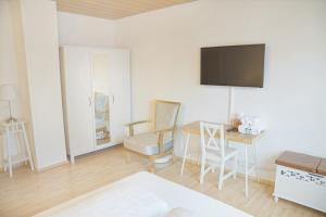 A television and/or entertainment centre at F10 APARTMENT Ulm