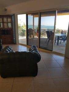 A seating area at Amazing Marina views for family